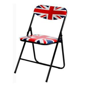 Silla tubular pegable diseño Bandera Britanica de 47x46x76cm