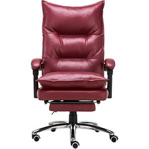 Silla para escritorio de polipiel roja con altura ajustable de 76x37x66cm
