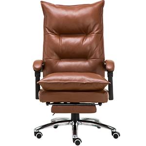 Silla para escritorio de polipiel café con altura ajustable de 76x37x66cm