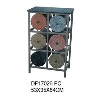 Cómoda de metal moderna con 6 cajones diseño cilindros de 53X35X84cm