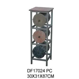Cómoda de metal moderna con 3 cajones diseño cilindros de 30X31X87cm
