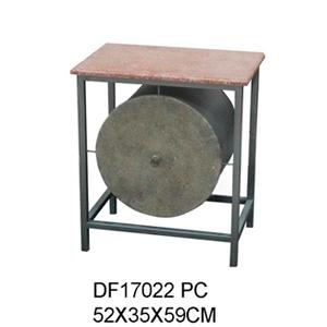 Cómoda de metal moderna con 1 cajón diseño cilindro de 52X35X59cm