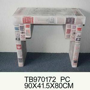 Coqueta de madera diseño libros de 90x41x80cm