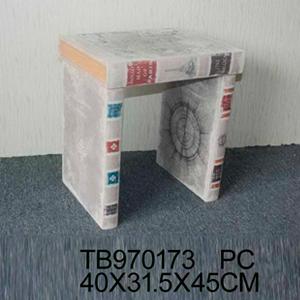 Banco de madera diseño libros de 40x31x45cm