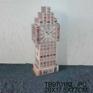 Reloj de pie diseño libros de 28x17x77cm