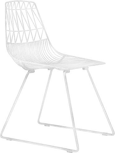 Silla de metal en color blanca de 51x67x40cm