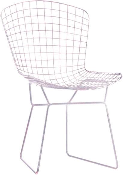 Silla de metal diseño cuadros blancos de 65x75x80cm