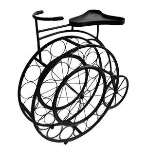 Porta botellas diseño triciclo antigua de 93x33.5x90cm