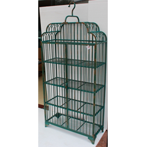 Mueble de metal con entrepaños diseño jaula de 94x46.5x201cm