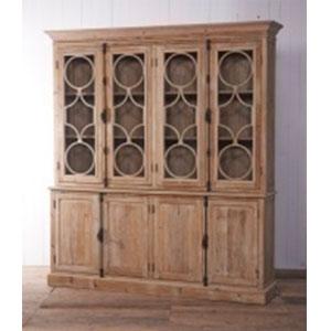 Gabinete de madera natural con 8 puertas de 210x45x230cm