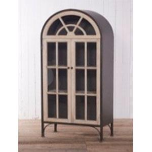 Gabinete de madera natural con 2 puertas de 80x40x180cm