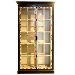 Gabinete de madera vintage blanco c/3 entrepaños de 110x43x223