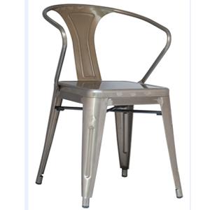 Silla con descansabrazos de aluminio galvanizado