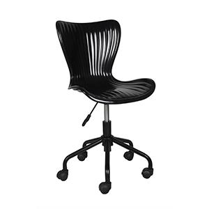Silla para escritorio con ruedas negra de 45x53x81cm