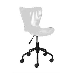 Silla para escritorio con ruedas blanca de 45x53x81cm