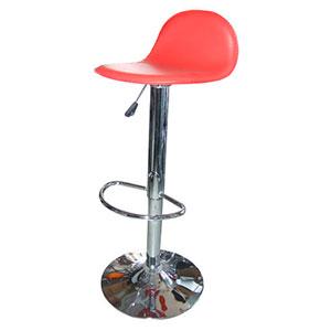 Silla de bar de polipiel roja con altura ajustable