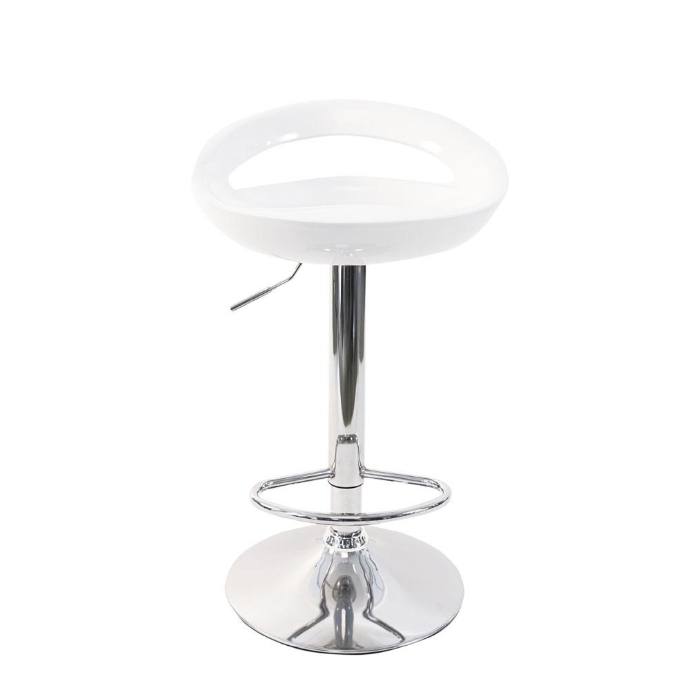 Silla de bar blanca con altura ajustable de 46x41x78-100cm