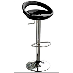 Silla de bar negra con altura ajustable de 46x41x78-100cm
