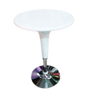 Mesa para bar blanca de 68cm y altura ajustable