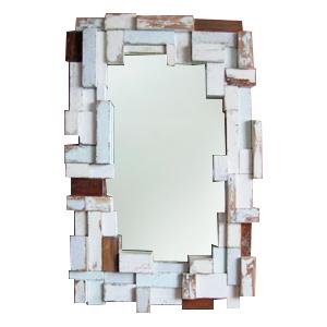 Marco rectangular terminado vintage diseño trozos de madera de