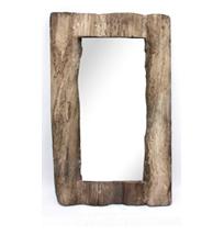 Espejo con marco imitación madera de 61x7x99cm