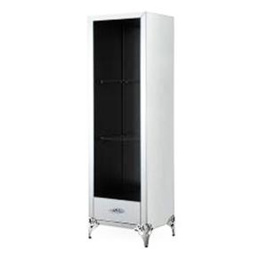 Gabinete de madera forrado e espejos con 2 cajones y entrepaños de 60x50x20.5cm