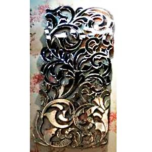 Espejo de pared diseño guias de flores tejidas de 101.6x50x19cm
