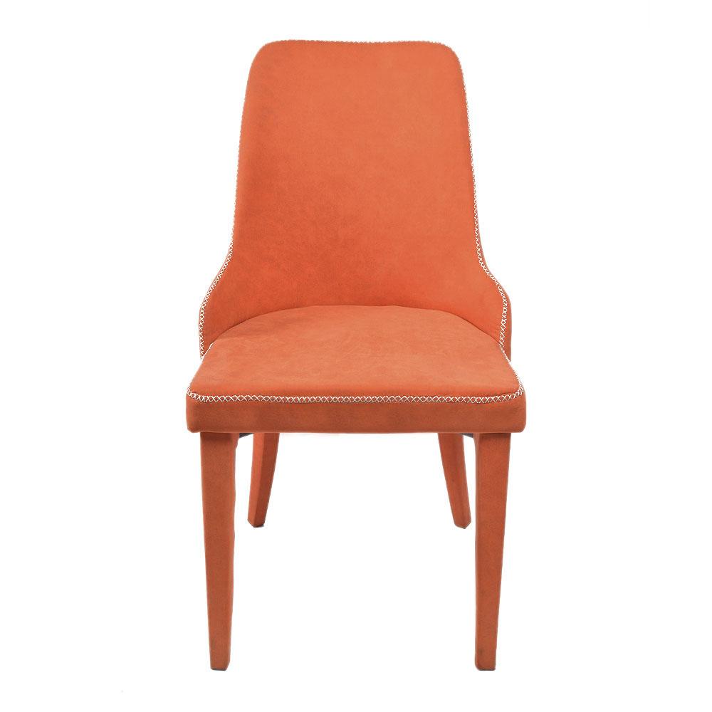 Silla tapizada de tela descansabrazos naranja de 86x56x47cm