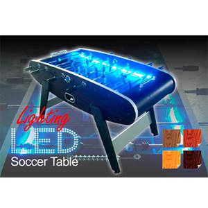 Mesa de futbolito con luz led azul de 152x74x86cm