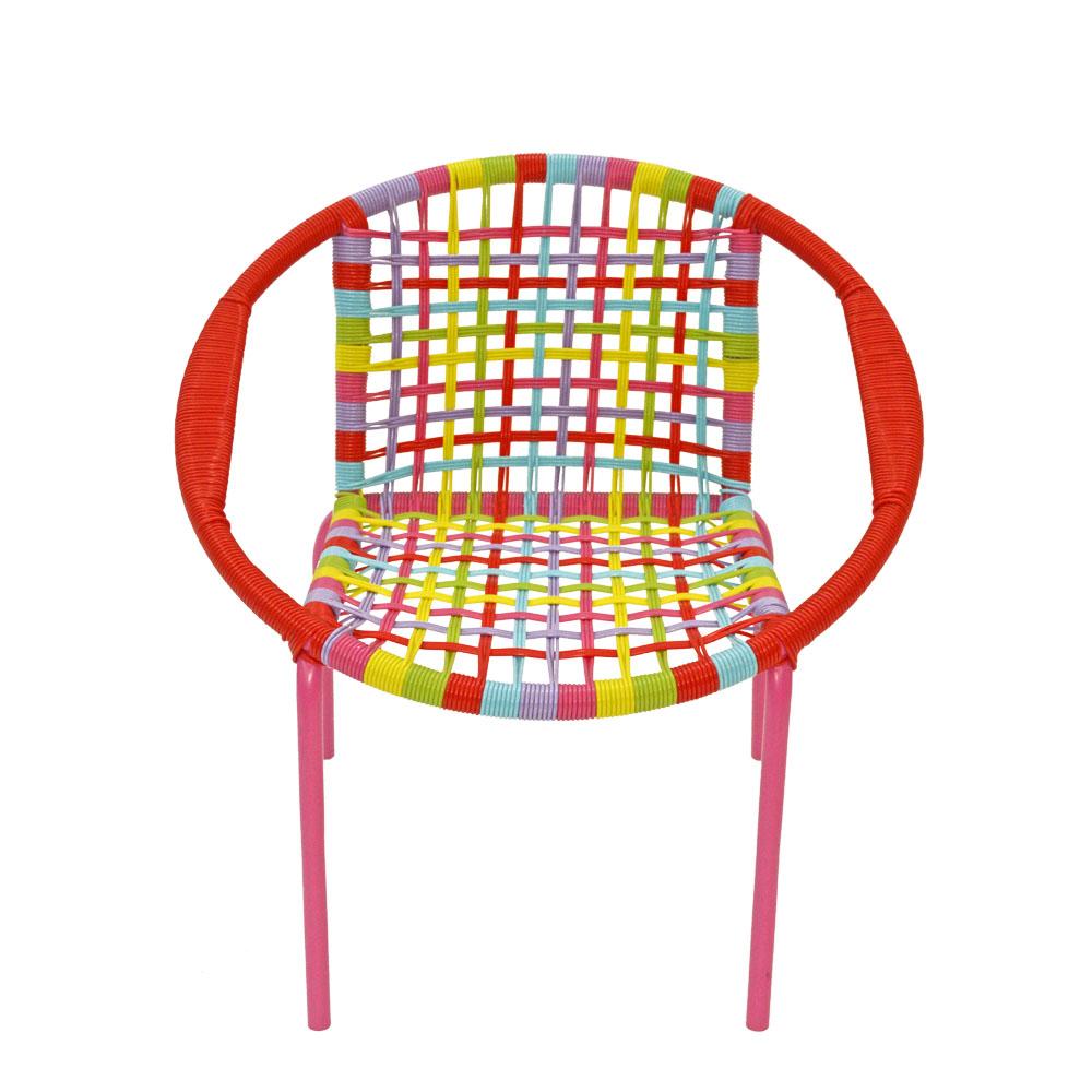Silla infantil de fibras plasticas de colores de 51x44x51cm