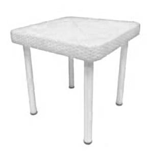 Mesa infantil de fibras plásticas blanca de 60x60x51cm