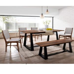 Mesa de madera café