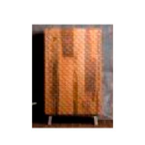 Armario de madera diseño escamas en color natural 106x45x180cm