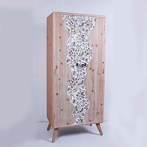 Armario de madera con diseño de 60x36x160cm