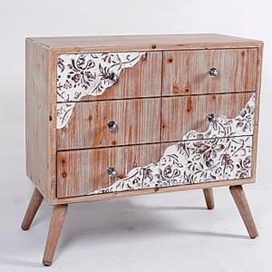 Cómoda de madera con 3 cajones de 75x36x70cm