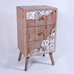 Cómoda de madera con 3 cojines diseño de 45x36x82cm
