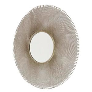 Espejo de metal redondo diseño malla de 116x116x2cm