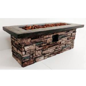 Chimenea rectangular diseño piedra de 122x50x45cm