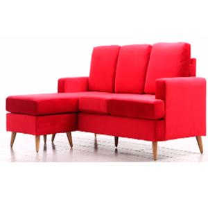 Sillón con Chase Long en color rojo de 185x80x133cm