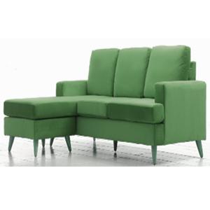 Sillón con Chase Long en color verde de 185x80x133cm