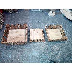 Canasta de madera 20x15x20cm