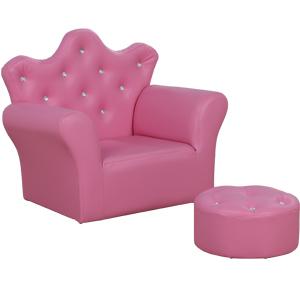 Sillón Infantil con descansa pies rosa de 58x40.5x48cm