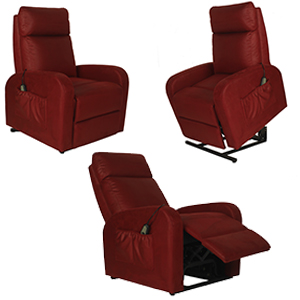 Sillón Reposet reclinable electrónico en color rojo de 74x92x101cm