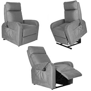 Sillón Reposet reclinable electrónico en color gris de 74x92x101cm