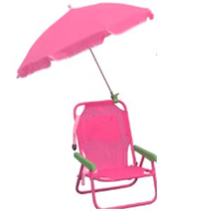 Silla infantil plegable con sombrilla en color rosa de 37x27x46/65cm