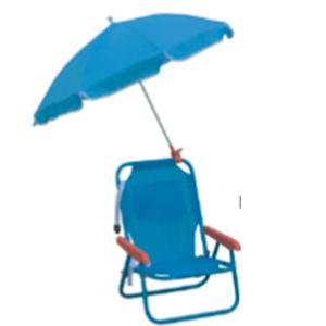 Silla infantil plegable con sombrilla en color azul de 37x27x46/65cm