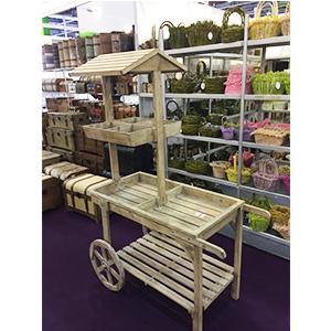 Carrito de madera para mercado de 117x53x166cm