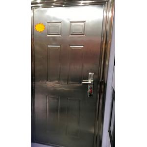 Puerta de acero inoxidable izquierda de 205x96x7cm