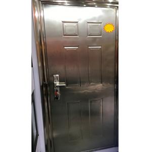 Puerta de acero inoxidable derecha de 205x96x7cm