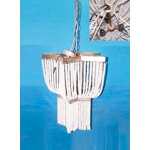 Lámpara de techo diseño clásico plata con guías de perlas blancas de 63x60x180cm